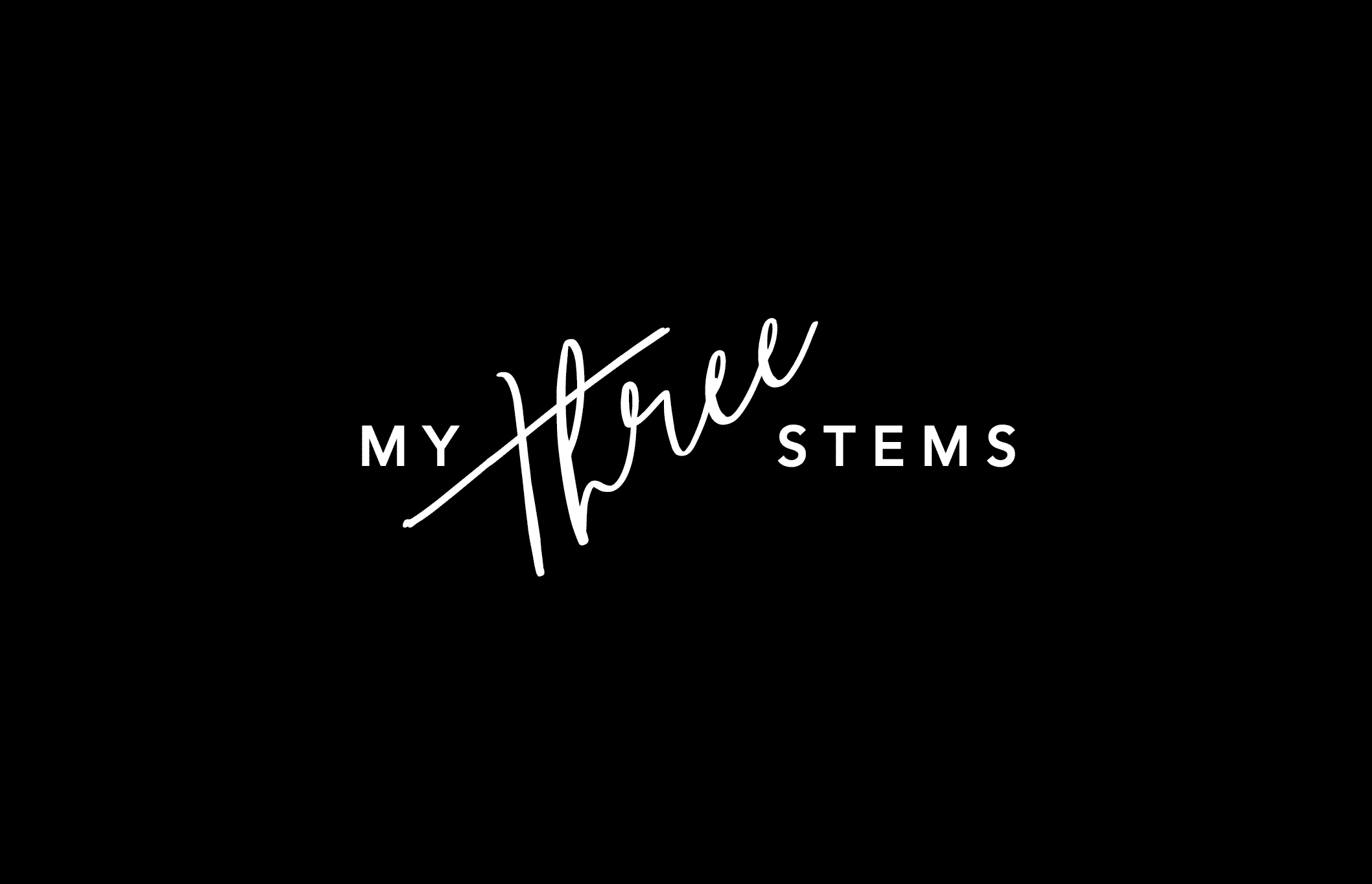 My Three Stems Black logo